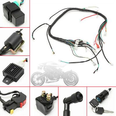 Wiring Harness Loom Solenoid Coil CDI 50 70 90cc 110cc 125cc ATV Quad Dirt Bike