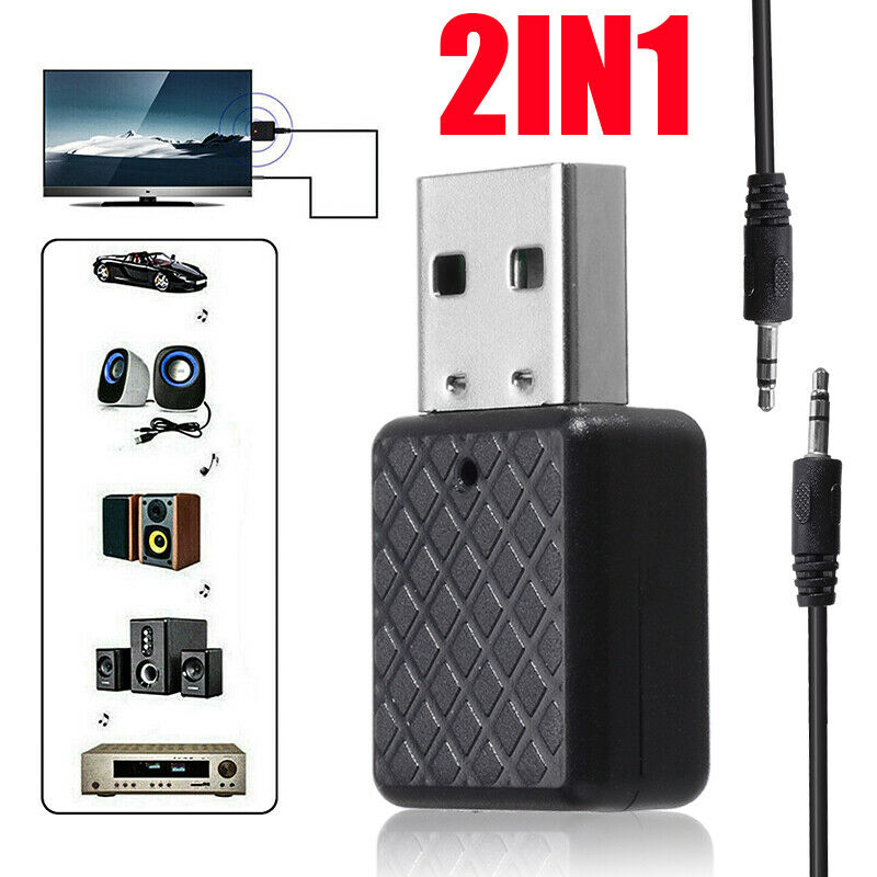 US USB bluetooth 5.0 Receiver Audio Transmitter Adapter For