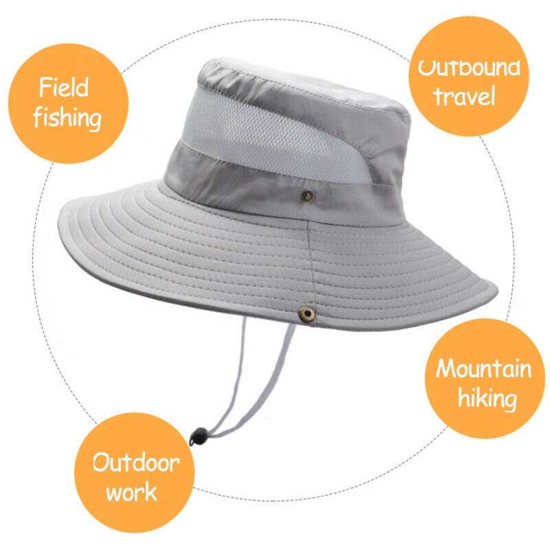 Women Men Wide Brim Sun Hat Summer Holiday Fishing Hiking Protect Casual Caps Clothing, Shoes & Accessories