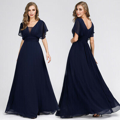 Ever-Pretty US Formal Evening Dress Chiffon Mother of Bride Prom Gown Navy - Blue Formal Evening Dress