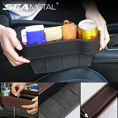 Car Seat Gap Catcher Filler Storage Box PU Leather Pocket Organizer Cup Holder