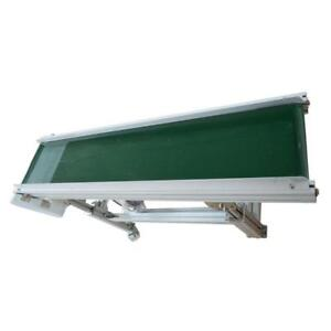 110V Green PVC Electric Inclined Conveyors Machine Highly 19.6inch-31.4inch Adjusted Item 230140