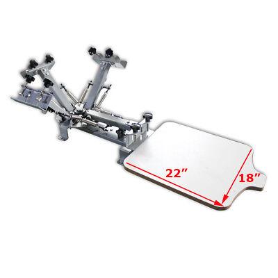 4 Color 1 Station Silk Screen Printing Press Equipment Diy Rotary Print Machine
