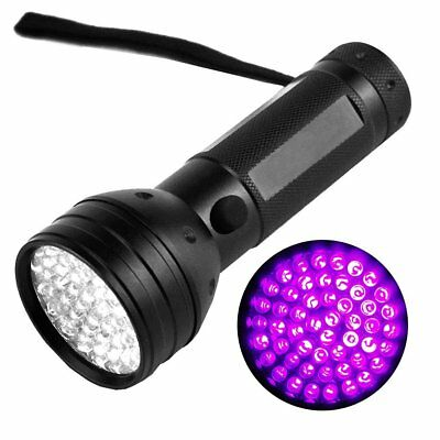 51 LED Ultra Violet UV 395 nM Blacklight Flashlight Inspection Lamp Torch Light