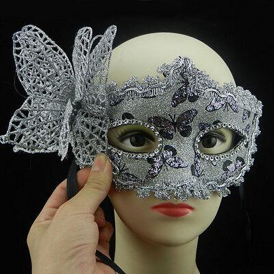 Bling Masquerade Halloween Cosplay Party Lace Venetian Princess Mask Butterfly (Venetian Princess Halloween)
