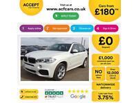 BMW X5 WHITE 3.0 30D XDRIVE M SPORT STATIONWAGON DIESEL FROM £165 PER WEEK!