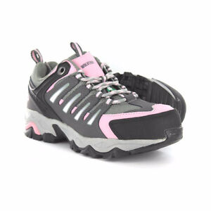 GAZELLE women's CSA safety hiker in grey/pink: Size 6M