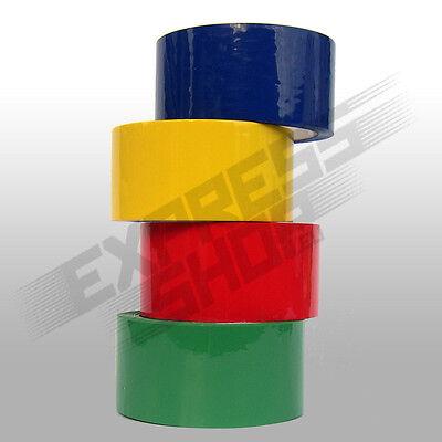 Klebeband Paketband Packband bunt farbig rot gelb grün blau PP - ab 0,026 €/m