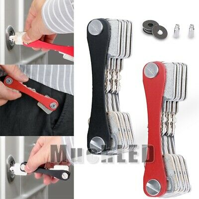 Mini Aluminum Smart Key Holder Organizer Clip Folder Keyring Keychain Cases Tool