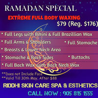 Only 120$ Full body scrub w/steam+Ma$$age+Gold Facial..spa