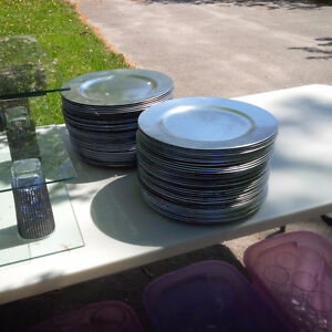 Silver charger plates....Come take them away