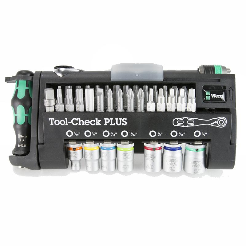 wera tools 05056491001 tool-check+ bits, handles, socket SAE