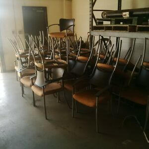 33 orange chairs for sale