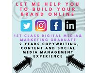 DIGITAL MARKETING: Copywriting, Social Media, Content, Blogging, Editing - FREELANCER AVAILABLE!
