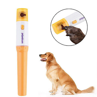 Pet Dog Cat Nail  Grinder Trimmer Clipper Electric Nail File kit ()