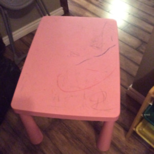 IKEA mammutt table with stool
