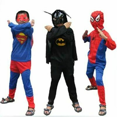 Toddler Red Spiderman Costume Black Batman Superman Halloween Costumes For - Superman Costume For Toddler Boy