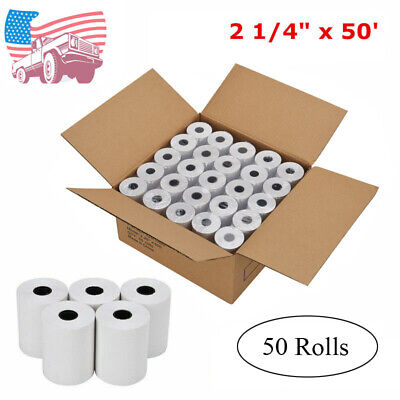 50 Rolls 2 14 X 50 Cash Register Credit Card Thermal Papers Pos Receipt Blank