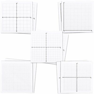 10-Pack Graph Paper Sticky Notes, Self Stick, 5 Designs for Draw Graph & Math