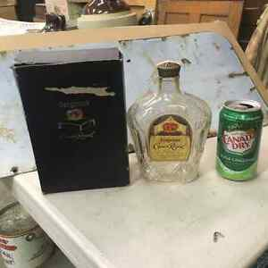 1955 Seagram's Crown Royal Whiskey Bottle and Box