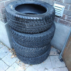 WINTER TIRES (4) 225-55-17 for SUV