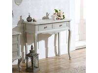 Console Table 2 drawer, NEW