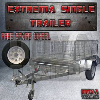 7x5extreme heavy duty braked cage galvanized new heavy duty trail