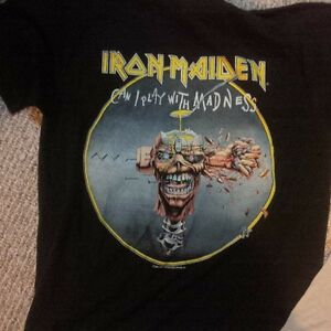 actual Rock concert shirts from 80's