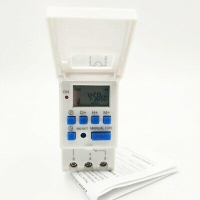 1pc Digital Lcd Programmable Timer Switch 15a 12vdc 24vdc 110vac 220vac Panel