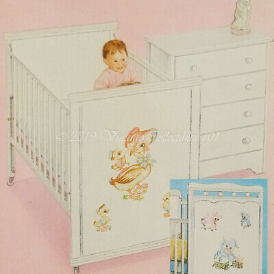 1955 Thayer Baby Nursery Crib Carriage Car Seat Furniture photo decor vintage ad