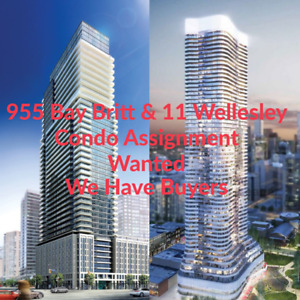 Wanted 11 Wellesley & 955 Bay Britt Condo assignment Solid Buyer