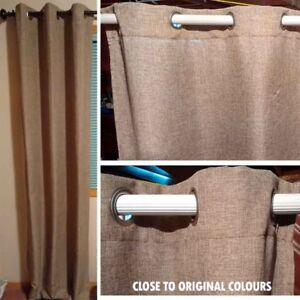 7 Curtain sets. Light-brown.
