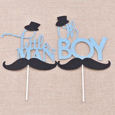 Mustache Little Gentleman Cake Topper Decor Wedding Birthday Party Supply 1Pc - Mustache Birthday Cake