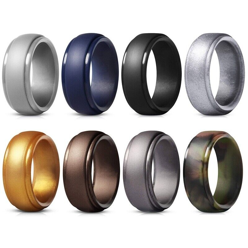 silicone rings for men wedding bands step