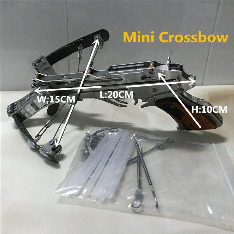 New Mini Crossbow Stainless Steel Shooting Toy Installation