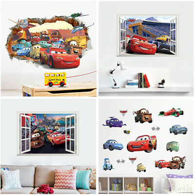 3D wall stickers with Disney cars 3 Lightning McQueen for home decor Cartoon  Lightning Mcqueen Furniture