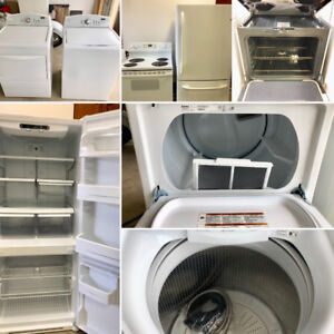 Appliance Package - Refrigerator/Range and Washer/Dryer.