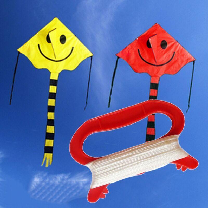 100M D Shape Kite Handle Line Winder String Kids Outdoor Spo