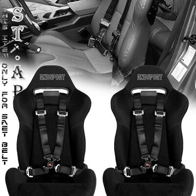 US-CAR 2X 4 POINT RACING SAFETY HARNESS CAMLOCK 2