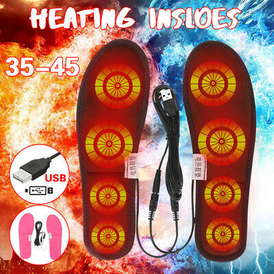 Electric USB Heated Shoes Insoles Warm Sock Feet Heater Foot Warmer Pad -