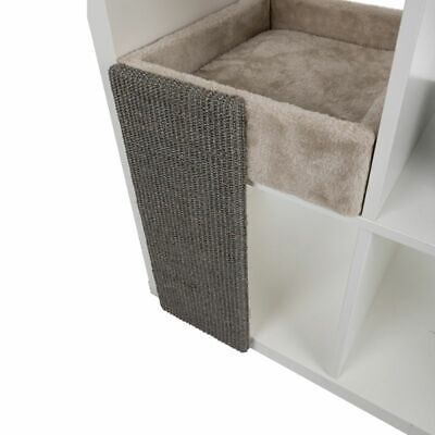 Cat Bed for Shelves with Sisal Scratching Board Removable Washable Cushion