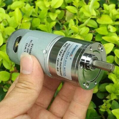 Dc 6v 9v 12v 82rpm Slow Speed Reduction Large Torque Mini 37mm Metal Gear Motor