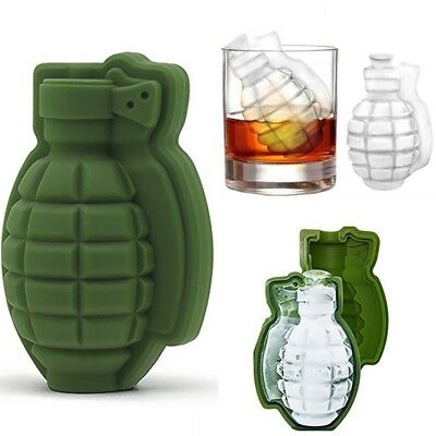 Grenade Shape 3D Ice Cube Mold Maker Bar Party Silicone Trays Mold Tool Gif X0D8 Ice Ice Cube Trays