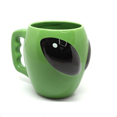 300ML 3D Alien Shape Ceramic Mug Cup Bar Restaurant Green Office Coffee Cup - Halloween Coffee Cups