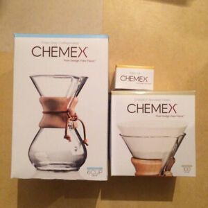 Bnib Chemex Pour Over Coffee Maker With Filters And Lid