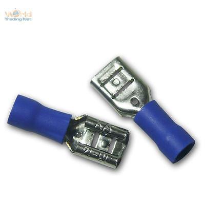 20 Kabelschuhe Flachsteckhülsen blau 6,3x0,8mm für 1,5-2,5mm² Kabelschuh Buchse