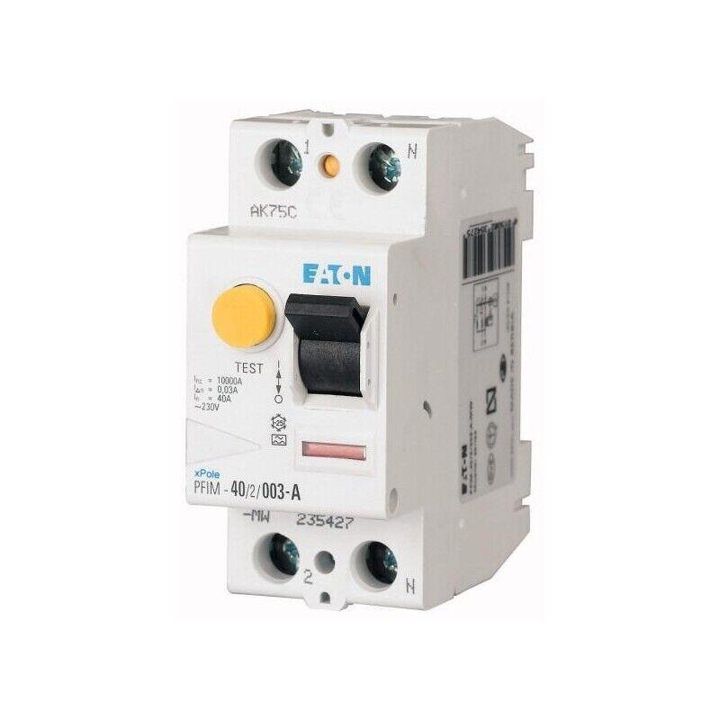 PFIM-40/2/003-A, EATON, Residual Current Circuit Breaker 40A 2P 30Ma Type A