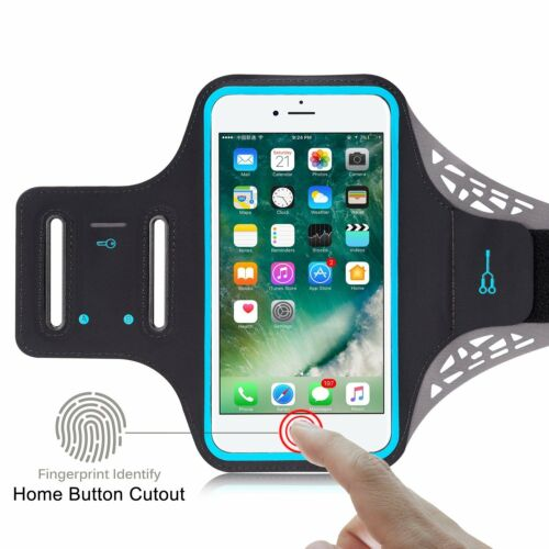 separation shoes 5f777 923da Details about Sports GYM Running Exercise Armband Case w/ Key Slot For  Apple iPhone 8 / 7 Plus