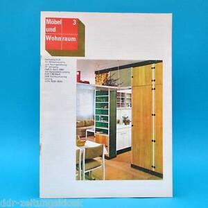 ddr m bel und wohnraum 3 1984 fachzeitschrift buffets anbauwand lessing burg 83 ebay. Black Bedroom Furniture Sets. Home Design Ideas