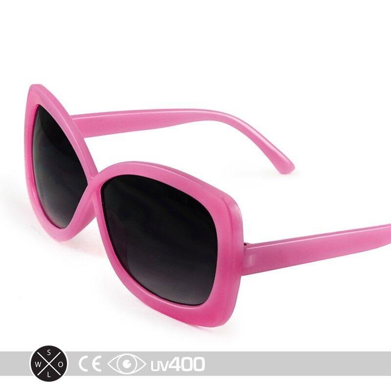 Pink Large Format Stylish Infinity Kids Girls Sunglasses Child Children K004